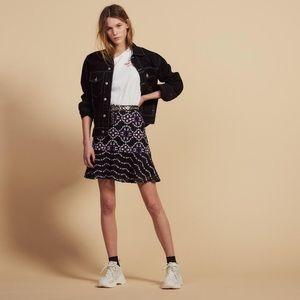 Sandro Guipure Lace Skirt